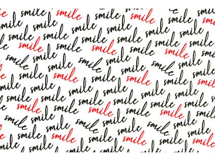 BAVLNĚNÁ LÁTKA SMILE š.160