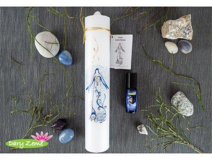 svíčka a parfém ježíše