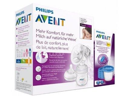 Philips Avent - manuální odsávačka s lahví + VIA180