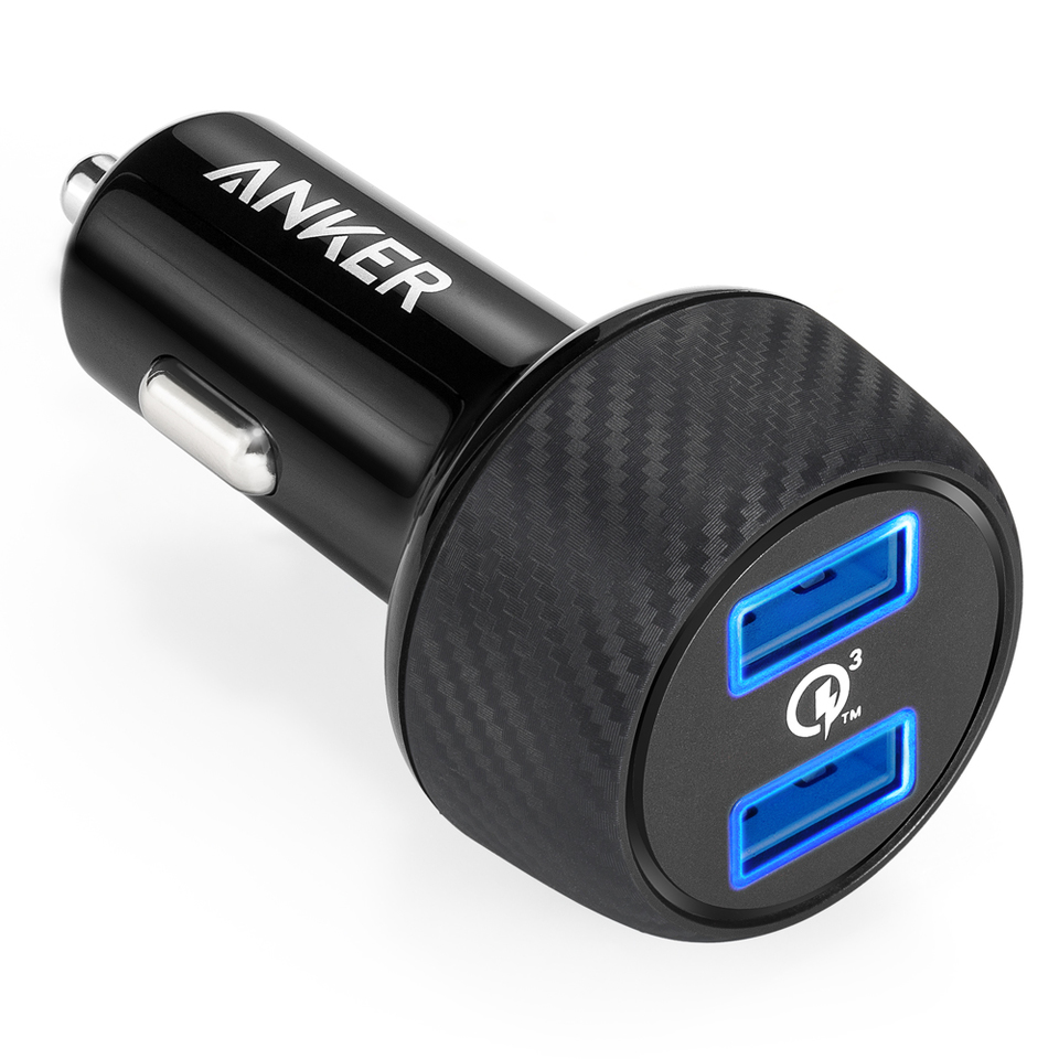 Anker PowerDrive Speed, 2x USB, QuickCharge 3.0 39W