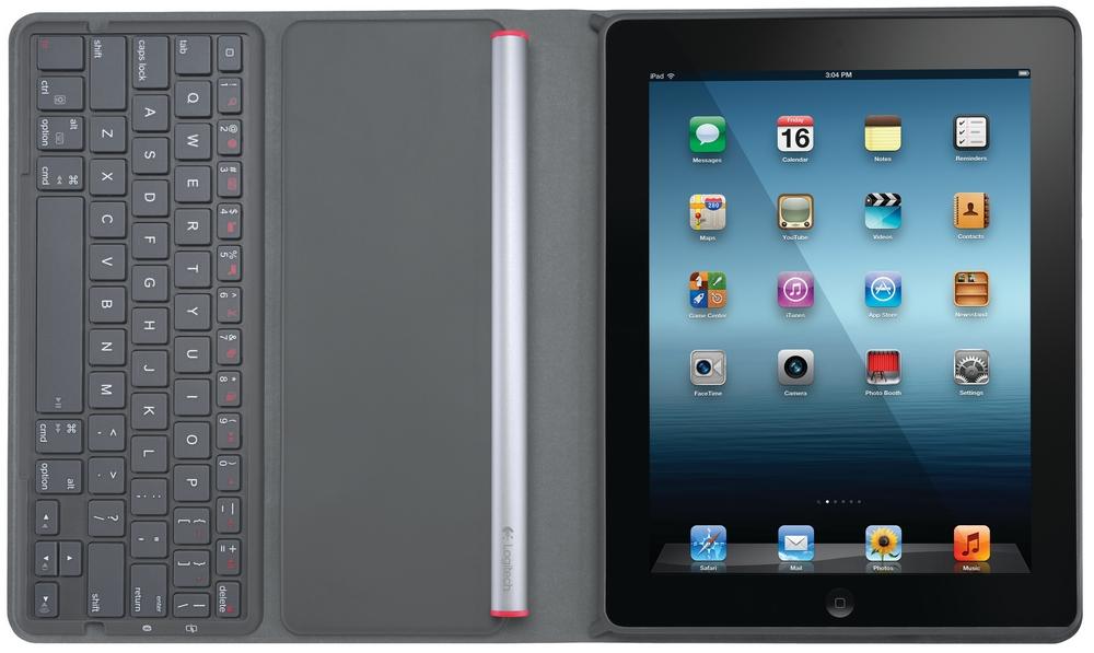 Logitech Solar Keyboard Folio pro iPad Lokalizace: US verze, 920-003910