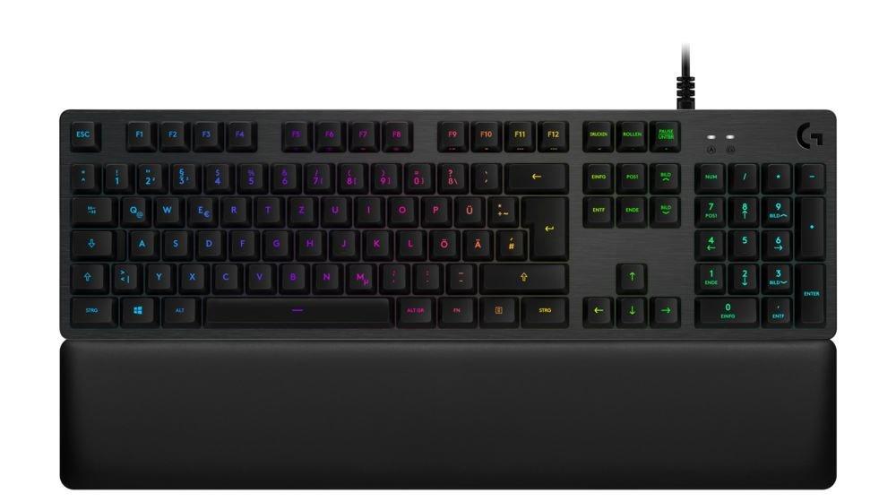 Logitech G513 Carbon RGB Mechanical Gaming Keyboard spínače & lokalizace: anglická, Tactile, 920-008869, rozložení kláves: EU