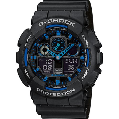 Casio G-Shock Original barva: modrá, GA-100-1A2ER