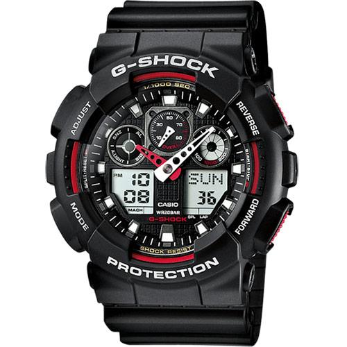 Casio G-Shock Original barva: červená, GA-100-1A4ER
