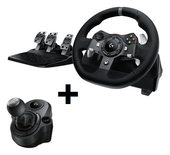 Logitech G920 Driving Force set: volant / řadicí páka