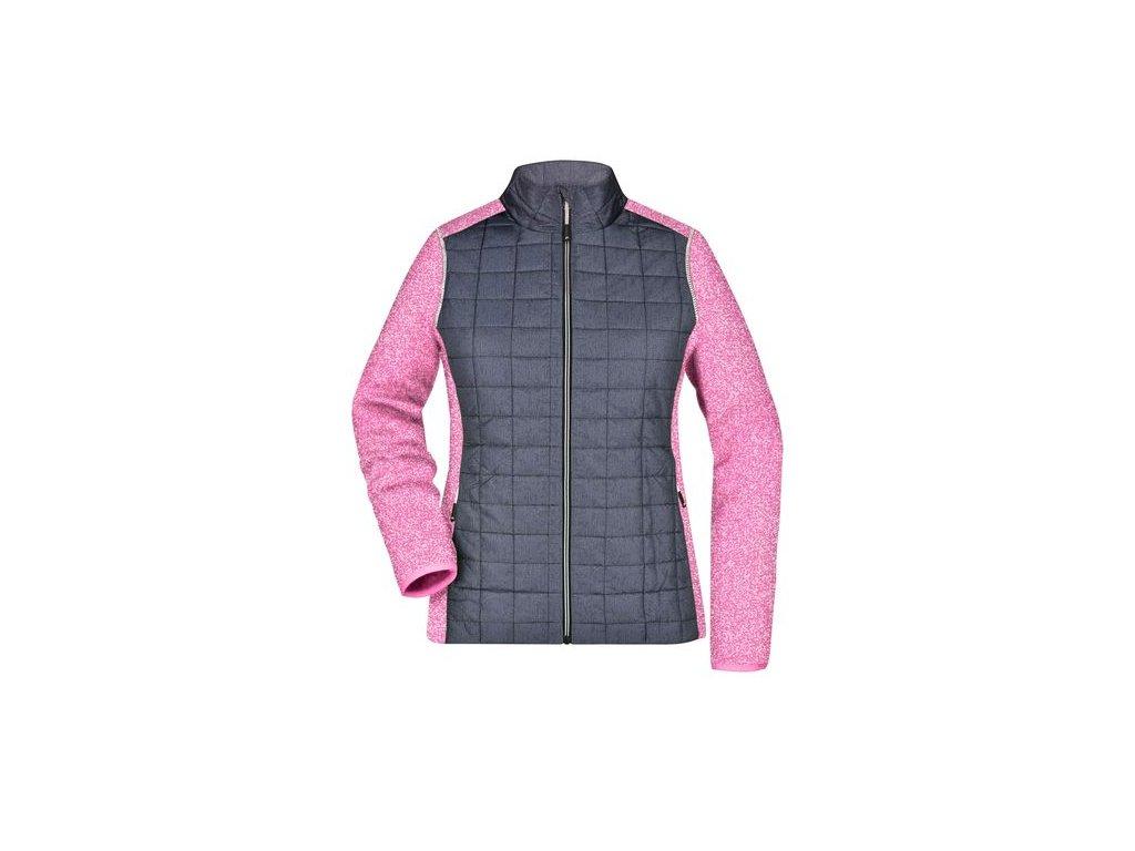 Dámská fleecová bundaJN741 pink melange anthracite melange 165853