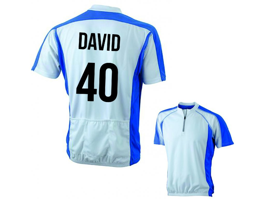 cyklistický dres se jménem a číslem