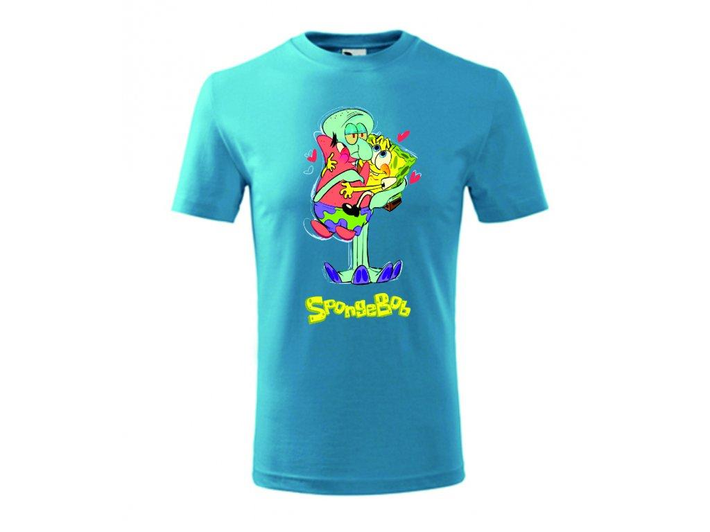 spongebob triko v náručí