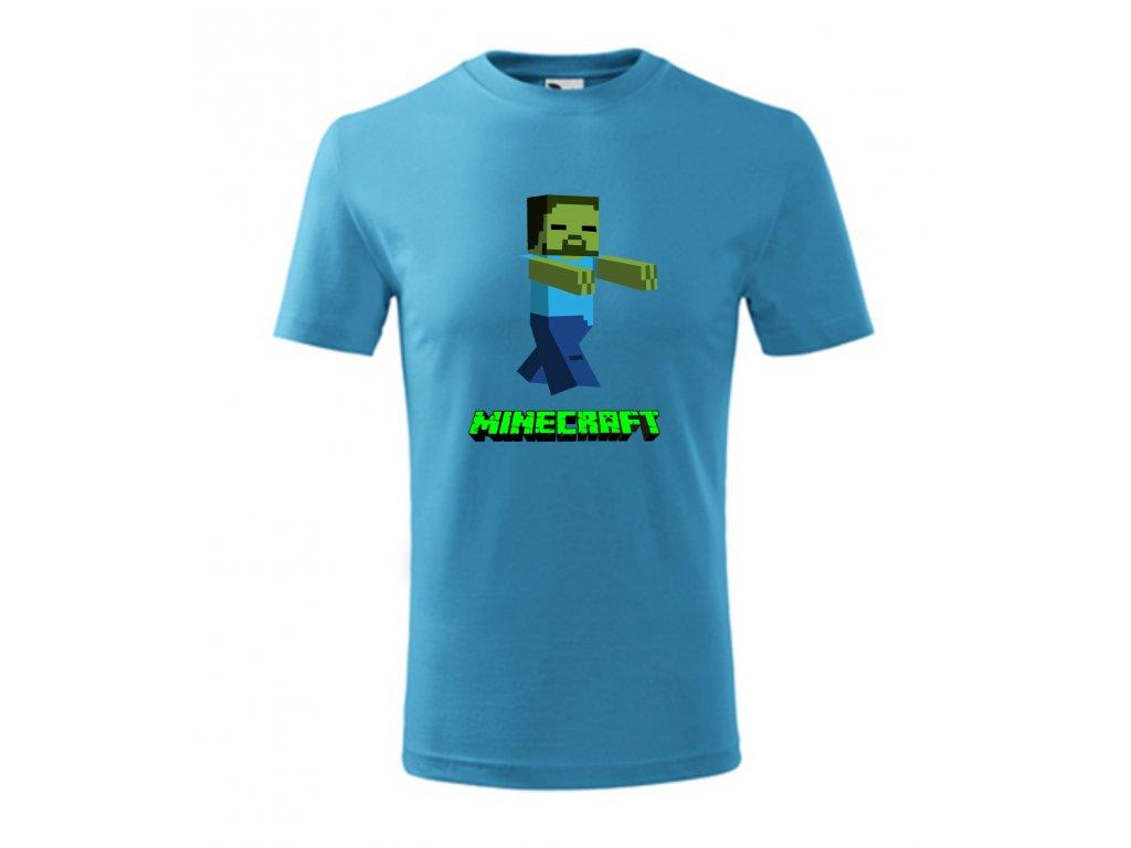tričko minecraft zombie