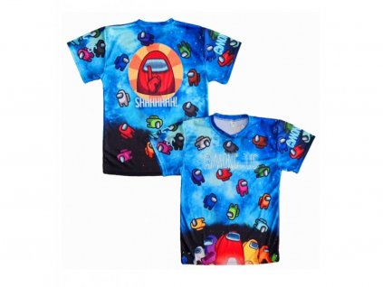 tričko Among Us sky blue
