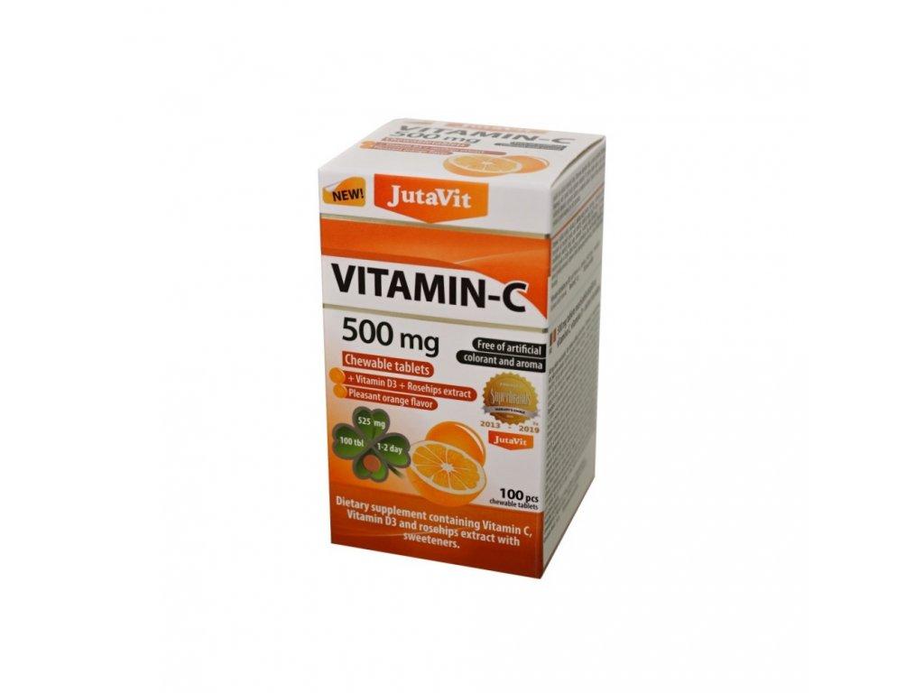 jutavit vitamin c 500 mg s vitaminom d3 a extraktom zo sipok s prichutou pomaranca so sladidlami 100 zuvacich tabliet 2350895 1000x1000 fit