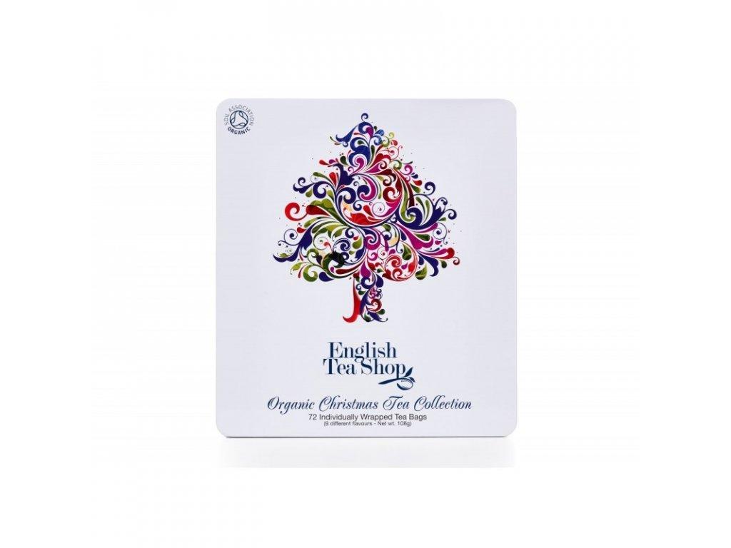 Vánoční čaj - ETS - Dárková kolekce v plechové kazetě - Vánoční strom, 72 sáčků