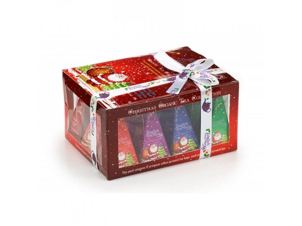ETS Vánoční čaj - dárková krabička se Santou, 12 pyramidek