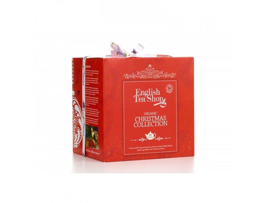 ETS Vánoční papírové kostky - Červené Vánoce, 96 sáčků