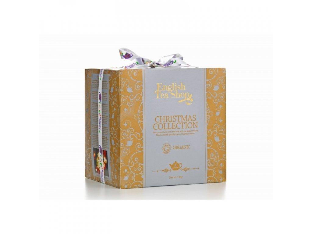 ETS Vánoční papírové kostky - Zlaté Vánoce, 96 sáčků