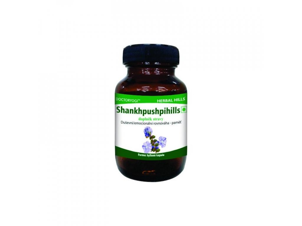 Shankhpushpihills, 60 kapslí, duševní/emocionální rovnováha