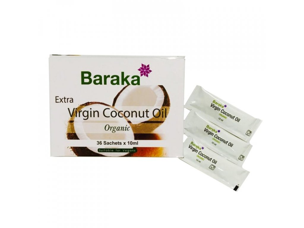 BIO RAW kokosový olej, 36 x 10 ml