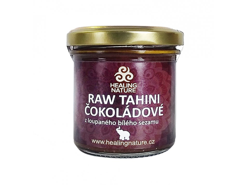 RAW Tahini čokoládové, 165 ml, Healing Nature
