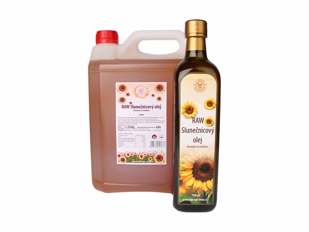 RAW Slunečnicový olej, 750 ml 5 l, Day Spa