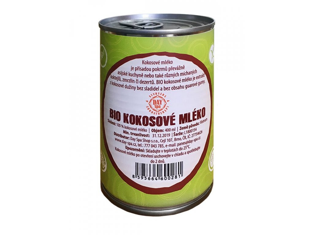 BIO Kokosové mléko, 400 ml, Day Spa