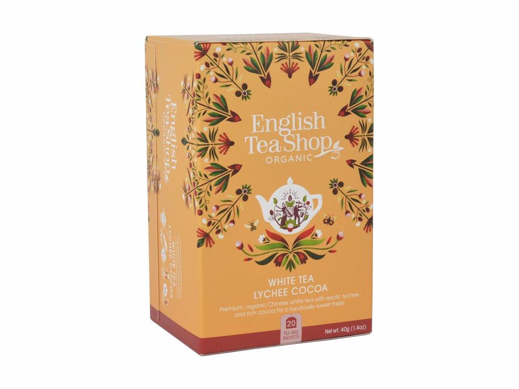 ETS Bílý čaj, liči a kakao, 20 sáčků