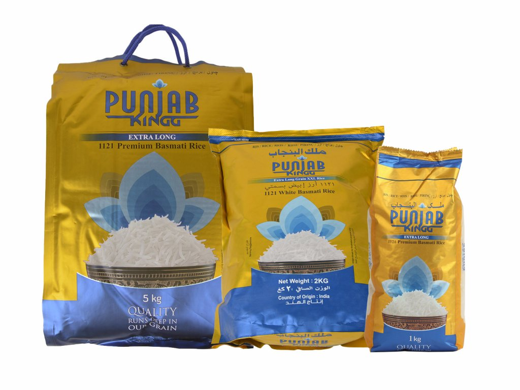 Punjab King Premium Rýže Basmati, 1 kg 2 kg 5 kg