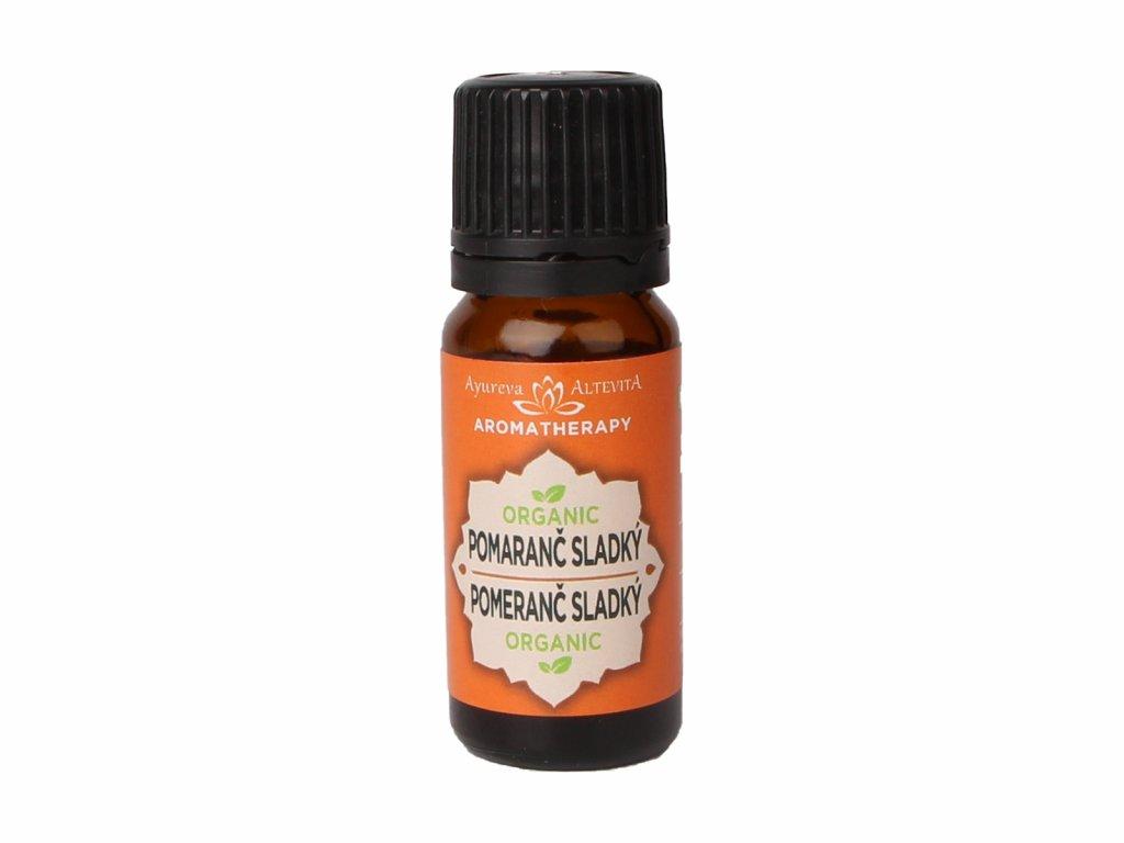 BIO 100% Esenciální olej Pomeranč sladký, 10 ml, Altevita