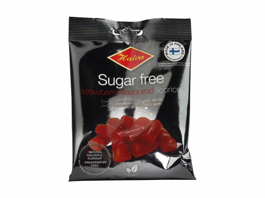 Lékořicové bonbony bez cukru jahodové, 90 g