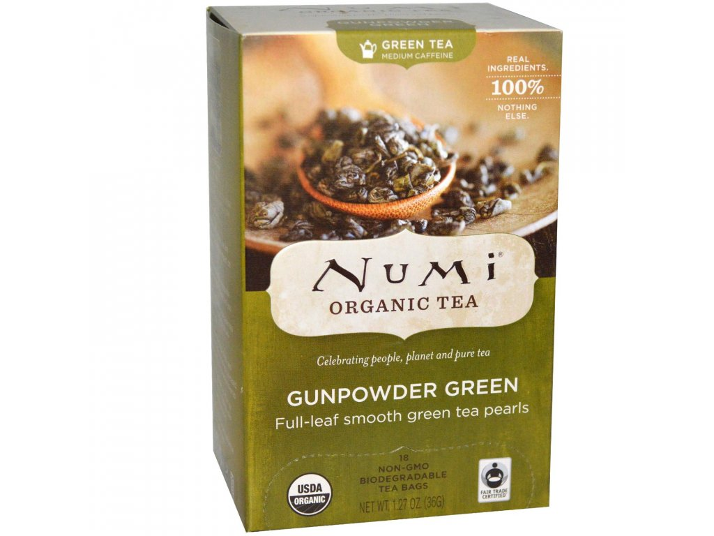 Numi Organic Tea Gunpowder Green zeleny gunpowder bio 18 sacku sku955