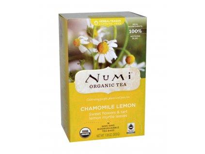 Numi Organic Tea Chamomile Lemon hermanek s citronovou myrtou bio 18 sacku sku958