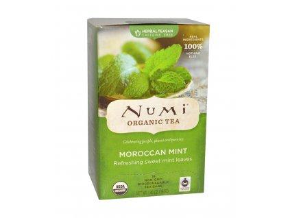 Numi Organic Tea Maroccan Mint marocka mata bio 18 sacku sku959