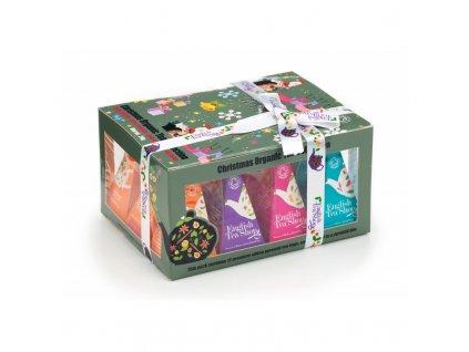 ETS Vánoční čaj - dárková krabička Ozdoby, 12 pyramidek
