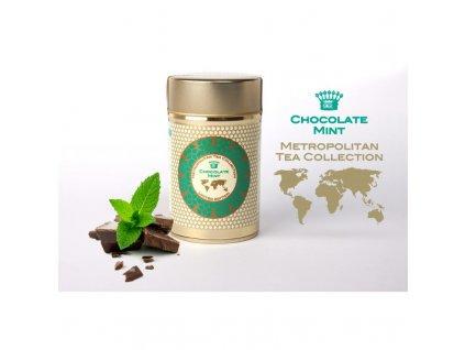 Metropolitan sypaný čaj Čokoláda s mátou, 60 g, sleva 30% EXP 10/20