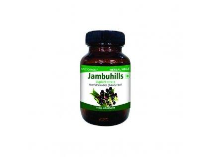 Jambuhills, 60 cps, hladina glukózy v krvi