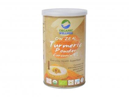 BIO Kurkumový prášek s extraktem, 100 g, Organic Wellness