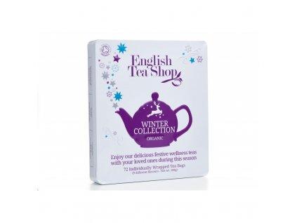 Vánoční čaj ETS - Dárková kolekce v plechové kazetě - Zimní kolekce, 72 sáčků