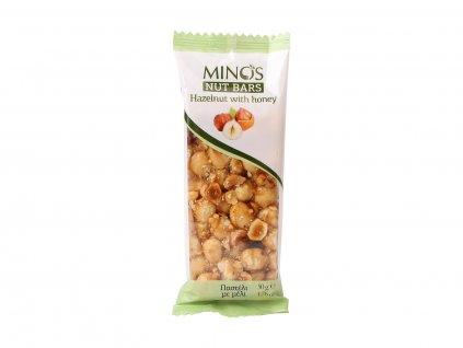 MINOS Ořechová tyčinka Lískový ořech a med, 50 g