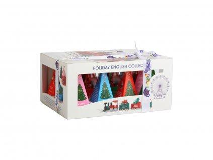 Vánoční dárková krabička čajů Sváteční kolekce, 12 pyramidek, English Tea Shop