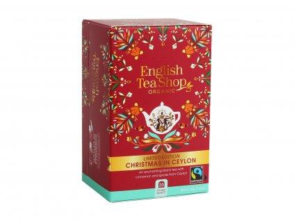 Vánoce na Cejlonu - Černý kořeněný čaj, 20 sáčků, English Tea Shop
