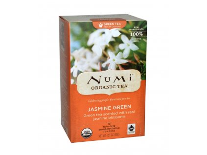 Numi Organic Tea Jasmine Green zeleny caj s jasminem bio 18 sacku sku949