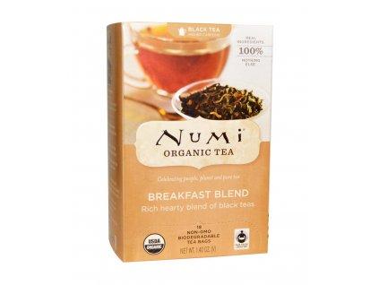 Numi Organic Tea Breakfast Blend smes cernych caju k snidani bio 18 sacku sku953