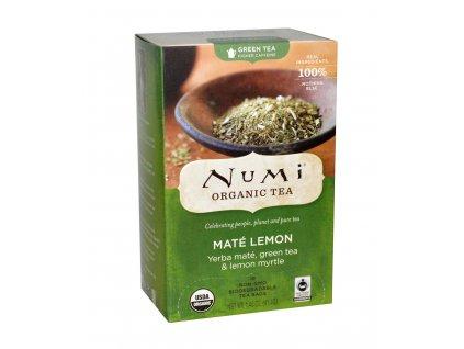 Numi Organic Tea Mate Lemon yerba mate se zelenym cajem a myrtou citronovou bio 18 sacku sku956