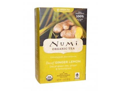 Numi Organic Tea Decaf Ginger Lemon zeleny se zazvorem a citronovou travou bio 18 sacku sku957