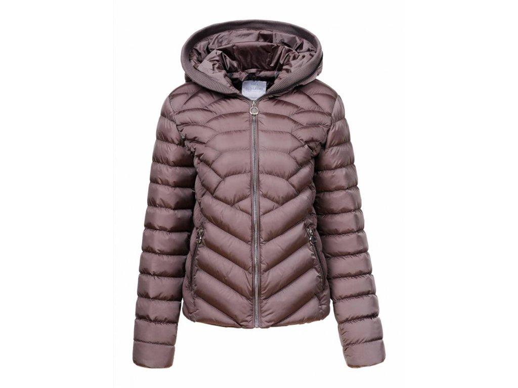 Damska siva presivana zimna bunda