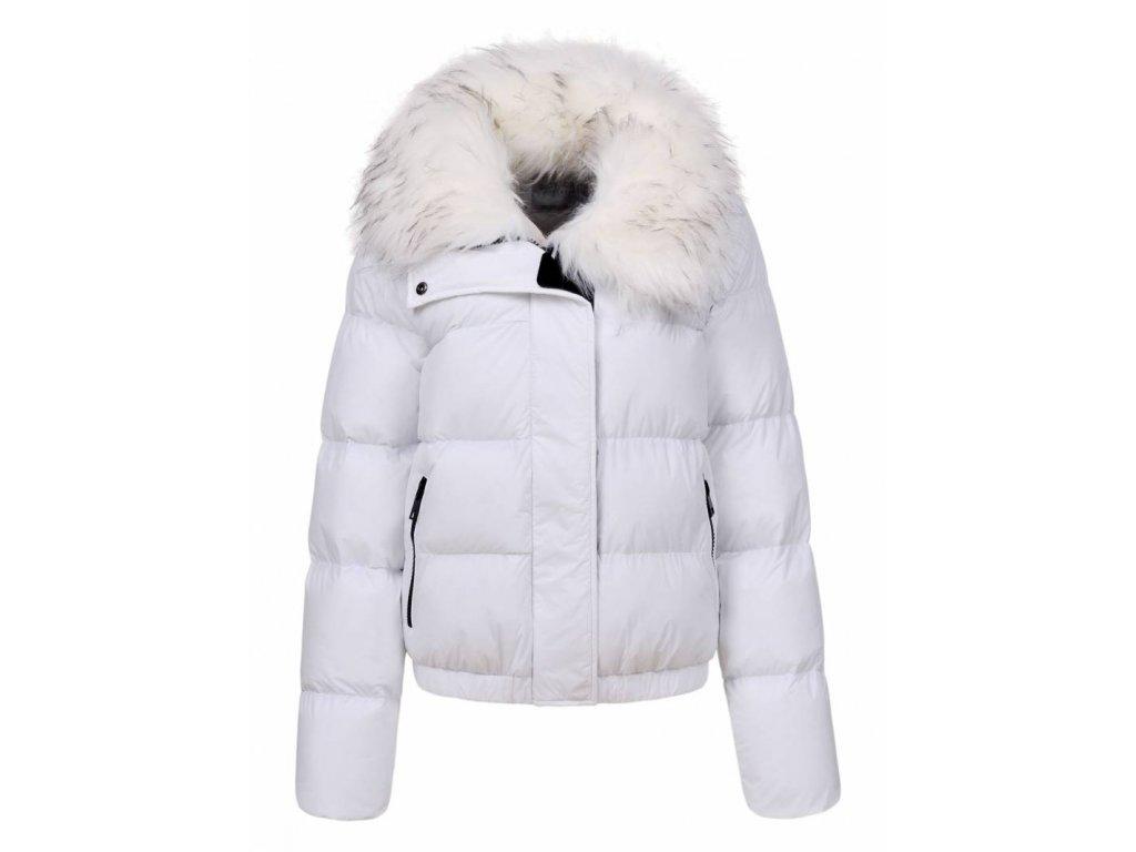 Damska biela zimna bunda