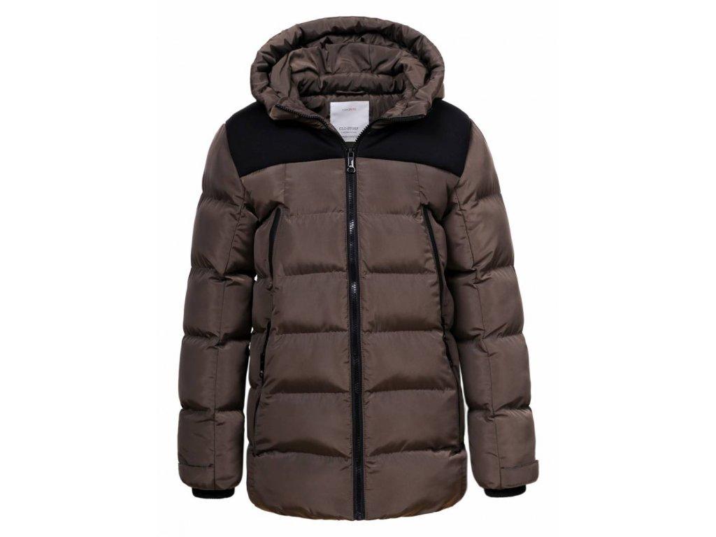 Chlapčenská zimná bunda DRAFT (Farba Hnedá, Veľkosť 164)