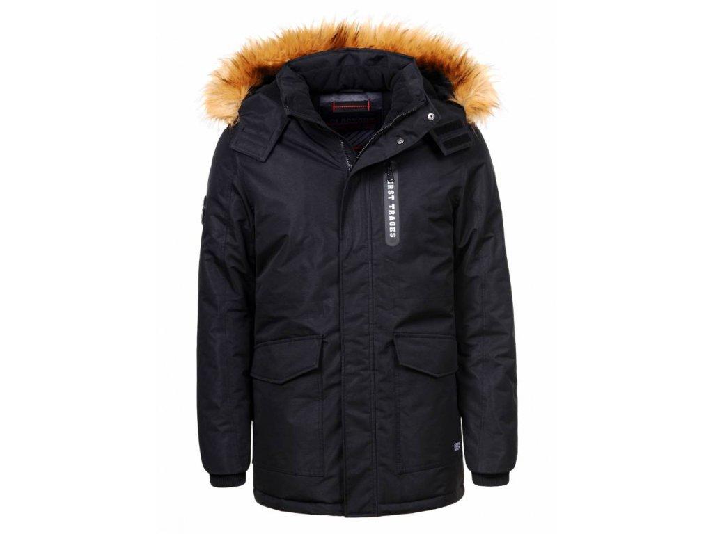 Pánska zimná bunda PLUS SIZE (Farba Modrá, Veľkosť 5XL)