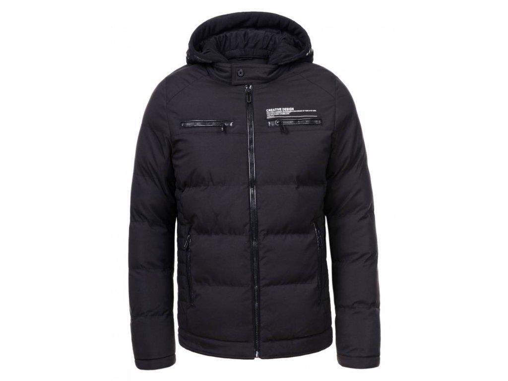 Pánska čierna zimná bunda (Farba Čierna, Veľkosť XL)
