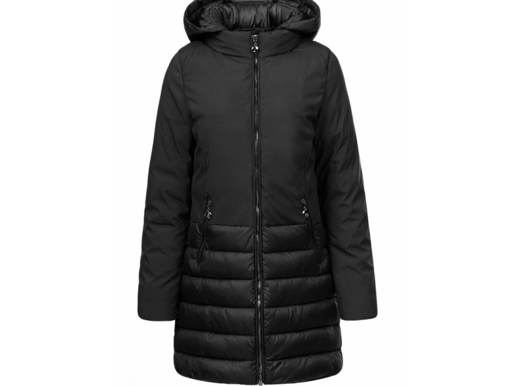 Damska zimna bunda s kapucnou
