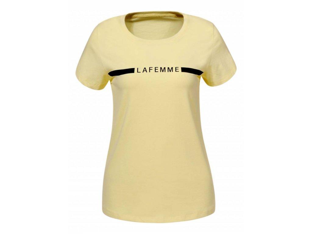 Dámske žlté tričko Lafemme (Farba Žlta, Veľkosť S)